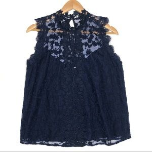 BB Dakota Allegra Novelty Lace Tank M